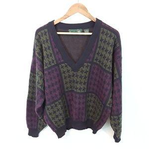 Vintage Deep V Neck Oversized Pullover Sweater